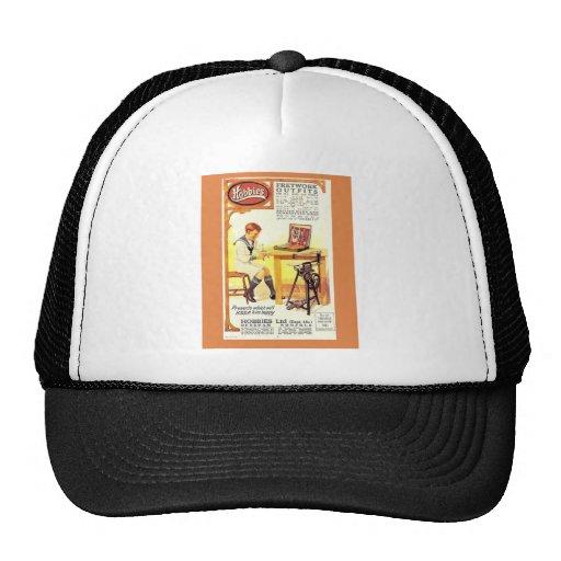 Vintage advertising, Hobbies Fretwork Saw Mesh Hats