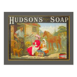 Vintage advertising Hudson s soap Postcard