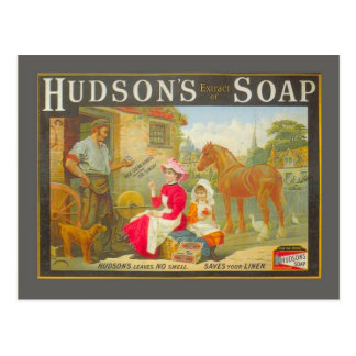 Vintage advertising, Hudson's soap Postcard