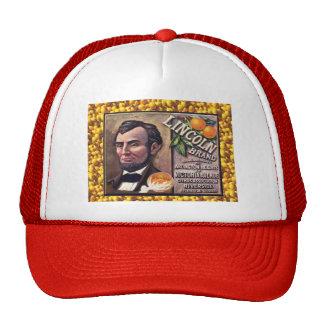 Vintage advertising, Lincoln oranges Trucker Hats