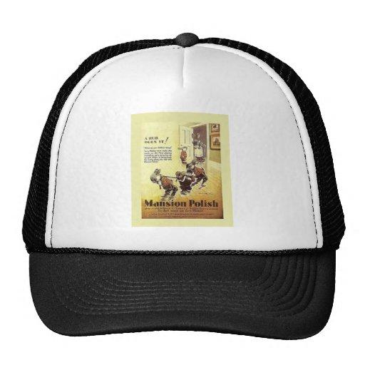 Vintage advertising, Mansion Polish Mesh Hats