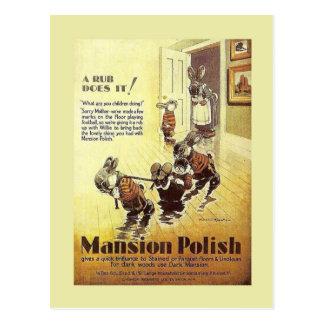 Vintage advertising, Mansion Polish Postcard