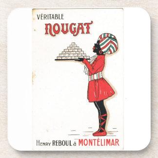 Vintage advertising Nougat Montelimar Coaster
