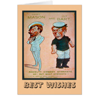 Vintage advertising, Novelty comedy gymnasts Greeting Card
