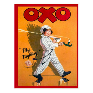 Vintage advertising, Oxo, my nightcap Postcard