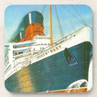 Vintage advertising, RMS Queen Mary Drink Coaster