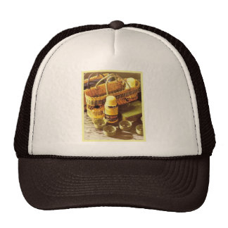 Vintage advertising, Thermos flask picnic Trucker Hats