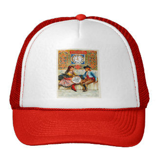 Vintage advertising Travel poster Madrid Hat