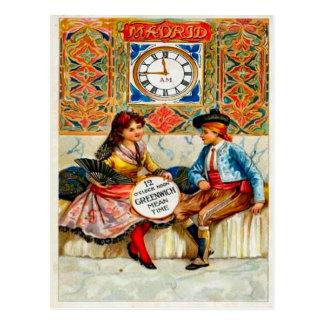 Vintage advertising, Travel poster, Madrid Postcard