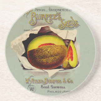 Vintage Advertising Victorian Cantaloupe Fruit Coasters