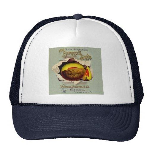 Vintage Advertising Victorian Cantaloupe Fruit Trucker Hats