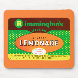 Vintage Aerated Lemonade Label Mouse Pad