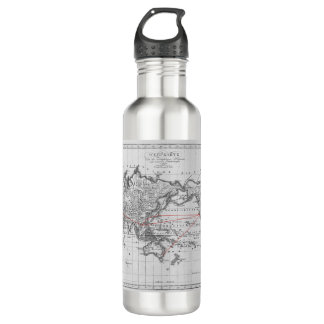 Vintage Aeronautic World Map 710 Ml Water Bottle