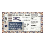 Vintage Aeroplane Boarding Pass Customised Photo Card