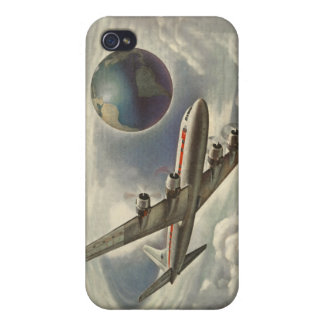 Vintage Aeroplane Circling the World iPhone 4/4S Cover