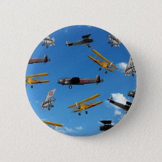vintage aeroplane design 6 cm round badge