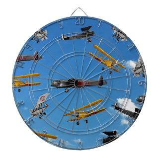 vintage aeroplane design dartboard