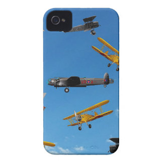vintage aeroplane design iPhone 4 case