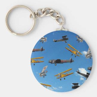 vintage aeroplane design key ring