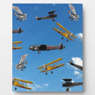 vintage aeroplane design plaque