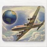 Vintage Aeroplane Flying Around the World in