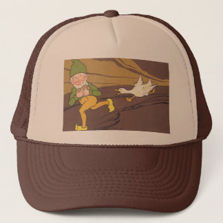 Vintage Aesop Fable Goose that Laid the Golden Egg Trucker Hat
