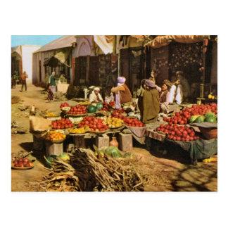 Vintage Afghanistan, street market in Kandahar Postcard