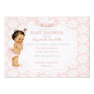 Vintage African American Latina Ethnic Baby Girl 13 Cm X 18 Cm Invitation Card