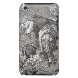 Vintage African Elephants iPod Case Barely There iPod Cover