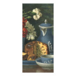 Vintage Afternoon Coffee, Cake, Tea and Flowers Custom Rack Card