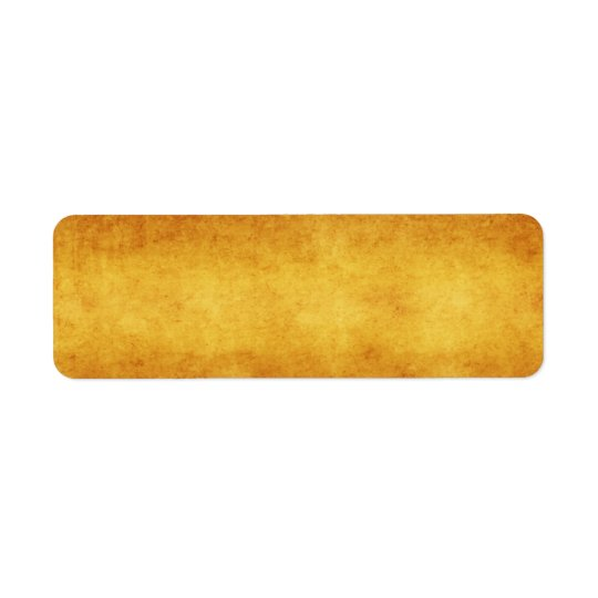 Vintage Aged Amber Burnt Umber Parchment Paper Return Address Label