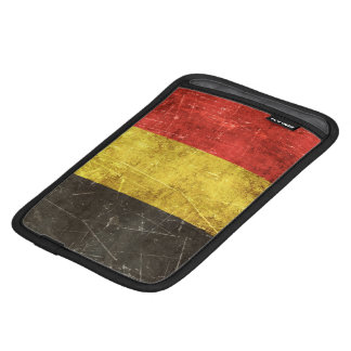 Vintage Aged and Scratched Flag of Belgium iPad Mini Sleeve
