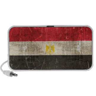 Vintage Aged and Scratched Flag of Egypt Mp3 Speakers