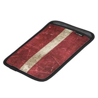 Vintage Aged and Scratched Flag of Latvia iPad Mini Sleeves