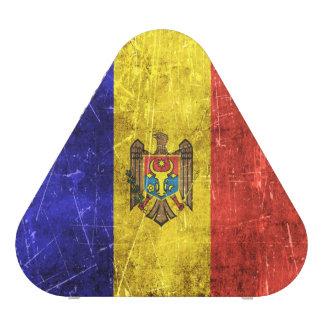 Vintage Aged and Scratched Flag of Moldova Bluetooth Speaker
