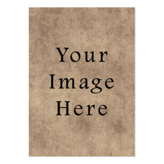 Vintage Aged Brown Parchment Paper Background Business Card Template