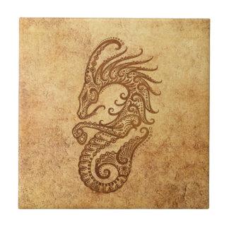 Vintage Aged Capricorn Zodiac Tile