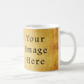 Vintage Aged Harvest Gold Parchment Paper Blank Coffee Mug