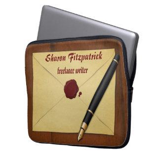 Vintage Aged Paper Envelope 13 Inch Laptop Sleeve