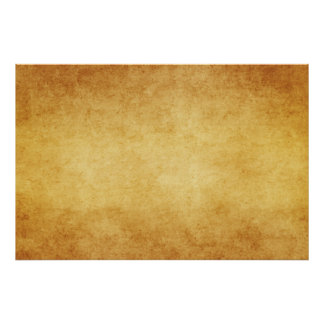 Vintage Aged Parchment Paper Template Blank Poster