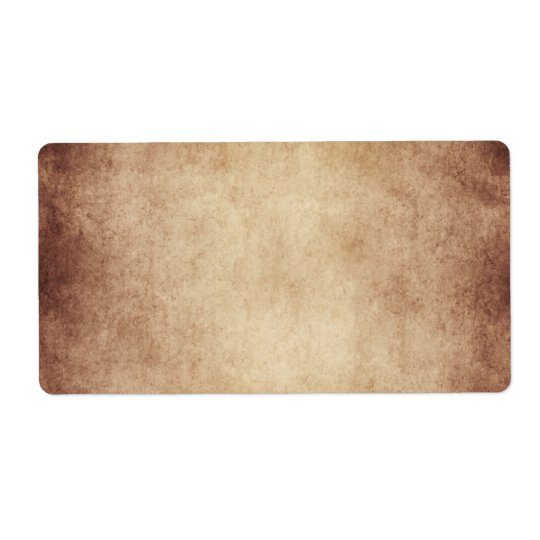 Vintage Aged Parchment Paper Template Blank Shipping Label