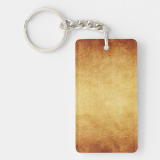Vintage Aged Parchment Paper Template Blank Single-Sided Rectangular Acrylic Key Ring
