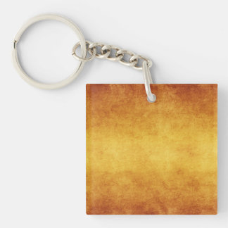 Vintage Aged Parchment Paper Template Blank Single-Sided Square Acrylic Key Ring