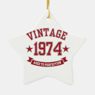 Vintage Aged to Perfection 1974 Ornament