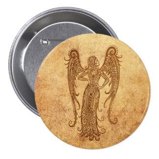 Vintage Aged Virgo Zodiac Pins