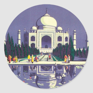 Vintage Agra Taj Mahal India Sticker