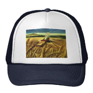 Vintage Agricultural Business, Wheat Farming Farm Trucker Hats