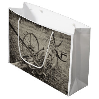 Vintage agricultural machine large gift bag