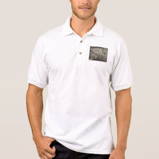 Vintage agricultural machine polo shirt