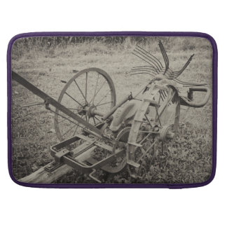 Vintage agricultural machine sleeve for MacBooks